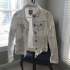 Off White Jean Jacket Size Small